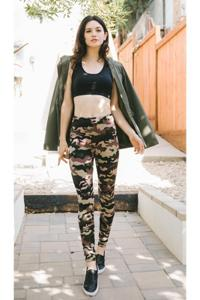 ShoSho FLEECE Camo High-Waist Leggings