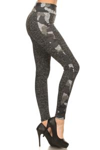 Camo Print Accent Fitness Leggings