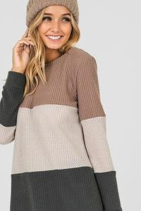 Cozy Thermal Colour Block Top