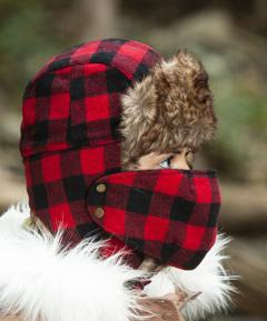 Lumberjack Trapper Hat with Mask