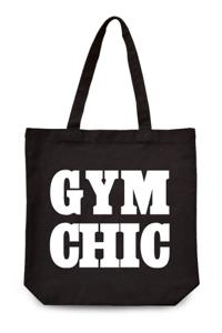 """Gym Chic"" Canvas Tote Bag"
