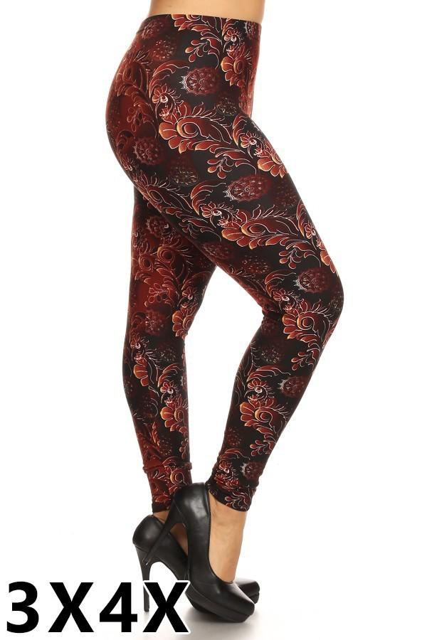Multi-Print Plus Size Leggings Style 1019