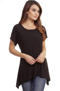 Solid Tunic Top Plus Size